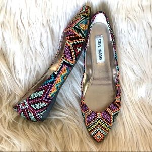 STEVE MADDEN HAANNA Multi Color Flat Pointed shoes